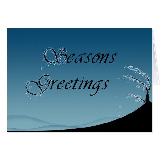 Snowy Seasons Greetings - Greeting Card