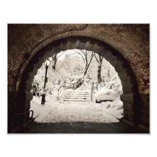 Snowy Shelter in Central Park Photo Print