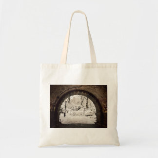 Snowy Shelter in Central Park Tote Bag