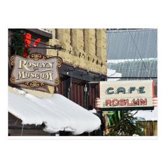Snowy Signs Postcard