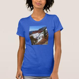 Snowy Slope Women's Blue T-shirt