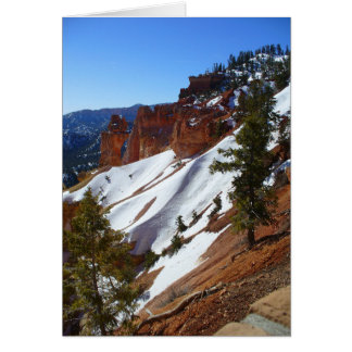 Snowy Slopes Mountain Greeting Card