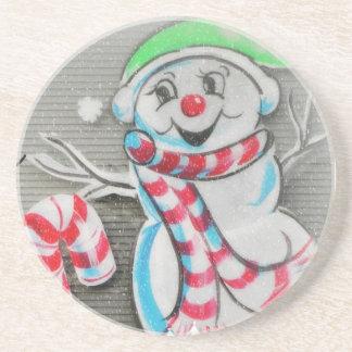 Snowy Snowman Drink Coaster