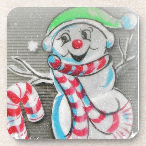 Snowy Snowman Drink Coasters