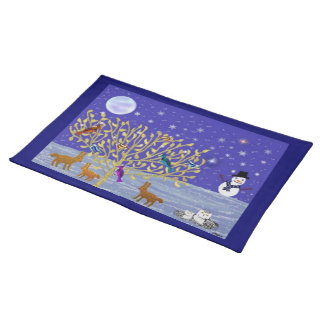 Snowy Snowy Night American Mojo Placemats