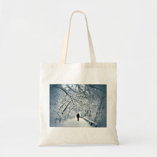Snowy Solitude Tote Bag