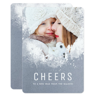 Snowy Splashes Holiday Photo Card