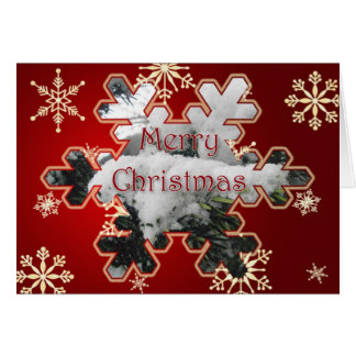 Snowy Spruce Merry Christmas Card