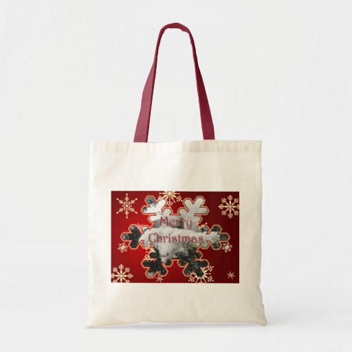 Snowy Spruce Merry Christmas Tote Bag