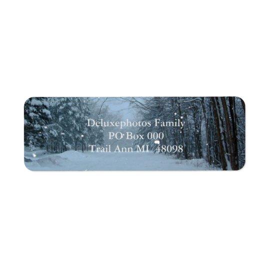 Snowy Street Return Address Label