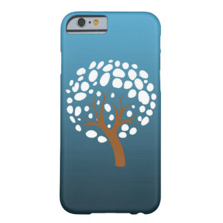 Snowy stylized tree barely there iPhone 6 case
