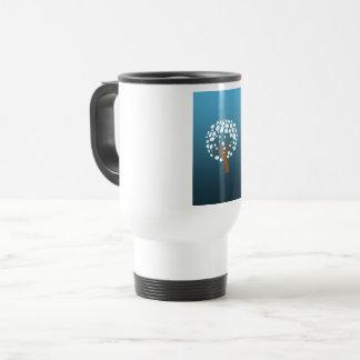 Snowy stylized tree travel mug