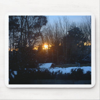 Snowy Sunrise Mouse Pad