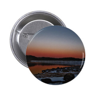 Snowy Sunset at Lake Arrowhead Pinback Button