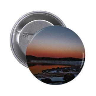 Snowy Sunset at Lake Arrowhead Pinback Button