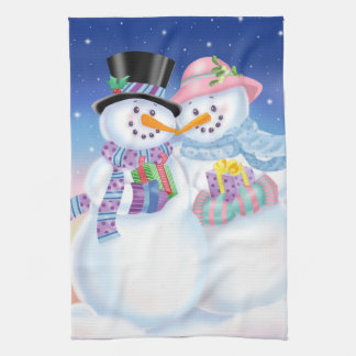 Snowy Sweethearts Kitchen Towel