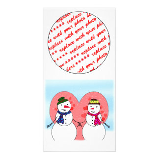 Snowy Sweethearts Picture Card
