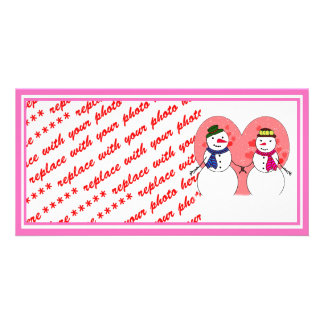 Snowy Sweethearts Photo Card Template