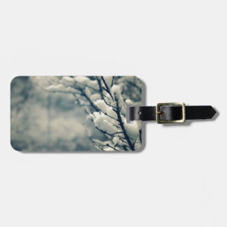 Snowy Tree Mouse Pad Luggage Tag