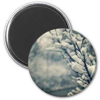 Snowy Tree Mouse Pad Magnet