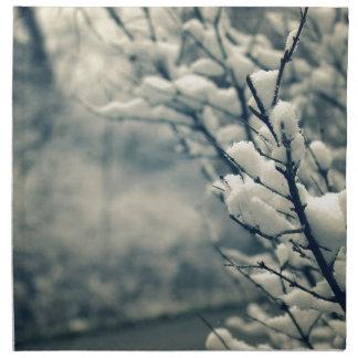 Snowy Tree Mouse Pad Napkin