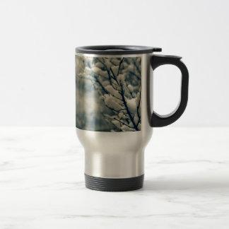 Snowy Tree Mouse Pad Travel Mug
