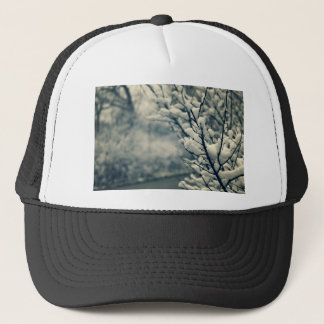 Snowy Tree Mouse Pad Trucker Hat
