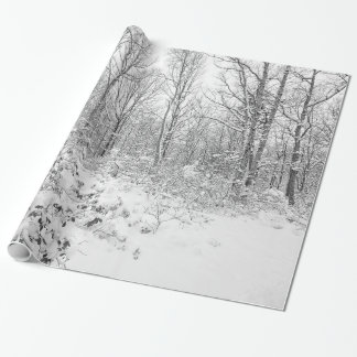 Snowy Trees in the Poconos Wrapping Paper