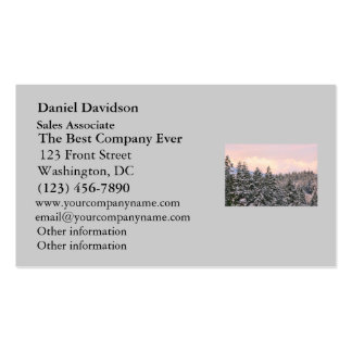 Snowy Trees Landscape Photo Business Card Templates
