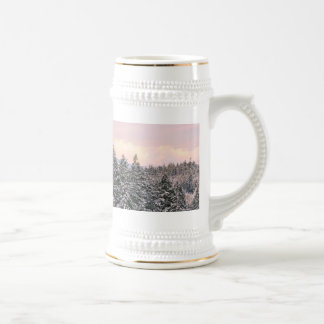 Snowy Trees Landscape Photo Coffee Mugs