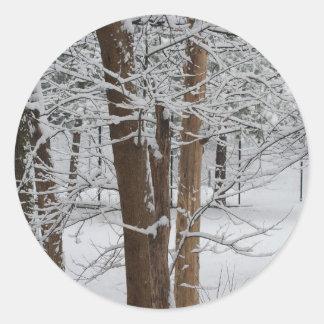 snowy trunks sticker