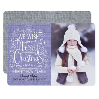 Snowy We Wish You A Merry Christmas  Photo Card