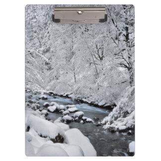 Snowy white creek scenic, Oregon Clipboard