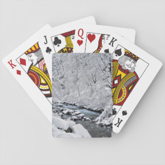 Snowy white creek scenic, Oregon Poker Deck
