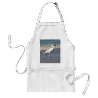 Snowy White Egret Standard Apron