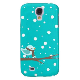 Snowy Winter Bird Case Samsung Galaxy S4 Cases