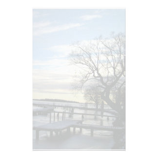 Snowy winter day stationary stationery paper
