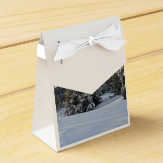 Snowy Winter Day Wedding Favour Boxes