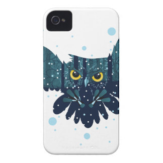 Snowy Winter Forest and Owl 2 Case-Mate iPhone 4 Case