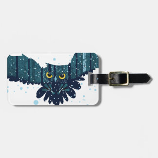 Snowy Winter Forest and Owl 2 Luggage Tag