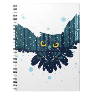 Snowy Winter Forest and Owl 2 Notebook