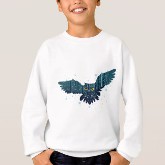 Snowy Winter Forest and Owl 2 Sweatshirt
