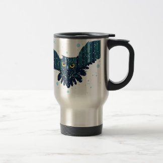 Snowy Winter Forest and Owl 2 Travel Mug