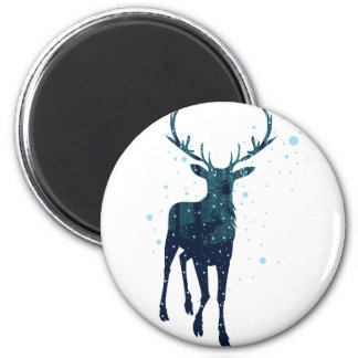 Snowy Winter Forest with Deer 2 Magnet
