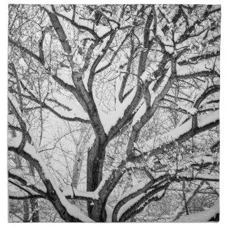 Snowy Winter Intertwine Napkin