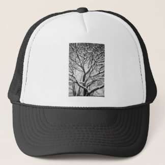 Snowy Winter Intertwine Trucker Hat