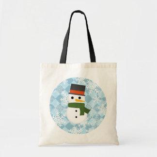 Snowy winter scene tote bag