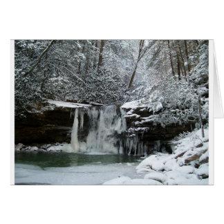 Snowy Winter Waterfall Card