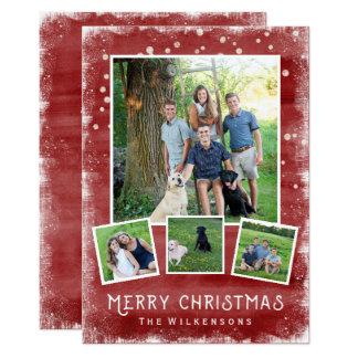Snowy Winter Wonderland Christmas Photo Collage Card