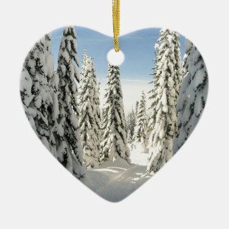 Snowy Wonderland Ceramic Ornament